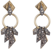 Alexis Bittar Two-Tone Crystal Encrusted Dangling Origami Post Earring