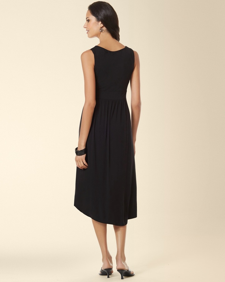 Soma Intimates Sleeveless Colorblock Midi Dress Neutral