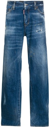 DSQUARED2 Stonewashed-Effect Loose-Fit Jeans