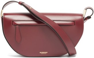 Burberry Olympia Small Leather Shoulder Bag - Burgundy