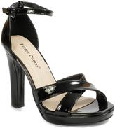 Pierre Dumas Black Patent Maybel Sandal