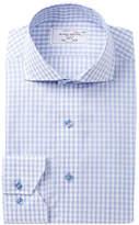 Lorenzo Uomo Cutaway Windowpane Trim Fit Dress Shirt