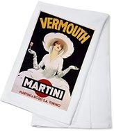 Vermouth - Martini Vintage Poster (artist: Dudovich) Austria c. 1920 (100% Cotton Absorbent Kitchen Towel)