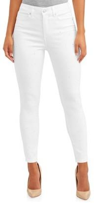Sofia Jeans By Sofia Vergara Sofia Jeans Rosa Curvy Diamante Studded High Waist Ankle Jean Women's