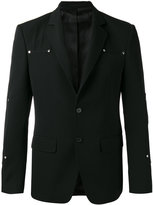 Givenchy logo stud blazer - men - Cotton/Cupro/Wool - 48