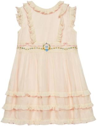 Gucci Children's embroidered cotton silk dress
