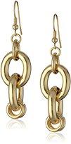 1AR by UnoAerre 18k -Plated Classic Link Drop Earrings