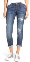 Vigoss Women's thompson Tomboy' Distressed Crop Boyfriend Jeans