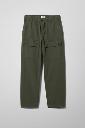 Weekday Ceasar Cargo Trousers - Green