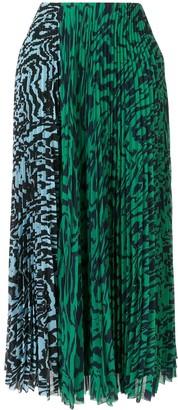 SOLACE London Nyomi pleated midi skirt