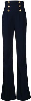 Balmain High-Waisted Six Button Trousers