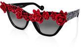 Anna-Karin Karlsson 'Cause I Flippin' Can Rosette Cat-Eye Sunglasses, Black/White