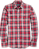American Rag Men's Garcia Washed Plaid Shirt, Only at Macy's