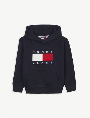 Tommy Hilfiger Flag motif cotton-blend hoody 2-16 years