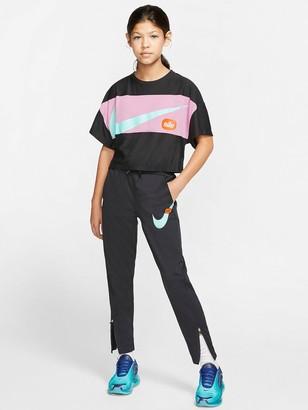 Nike Sportswear Just Do It Older Girls Track Pants - Black