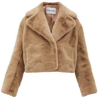 Stand Studio Janet Faux-fur Jacket - Womens - Camel
