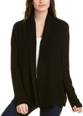 Vince Mixed Gauge Wool & Cashmere-Blend Cardigan