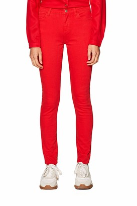 Esprit 029EE1B024 Women's Skinny Jeans - Red (RED 630) - W29/L34