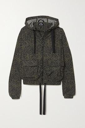 The Upside Ramy Hooded Leopard-print Stretch-shell Jacket - Leopard print