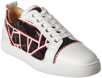 Christian Louboutin Louis Junior Orlato Leather & Patent Sneaker