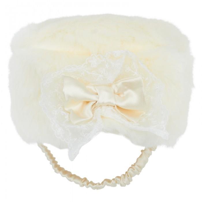Little Darlings Ivory Faux Fur Hat