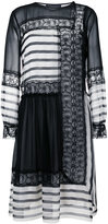 Alberta Ferretti contrast panel dress - women - Silk/Cotton/Polyamide - 42