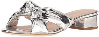 Loeffler Randall Women's Elsie (Metallic Foiled Leather) Heeled Sandal