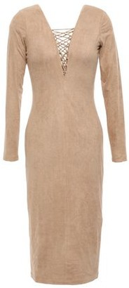Alexander Wang Lace-up Faux Suede Dress