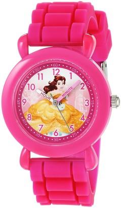 Disney Girls Princess Belle Analog-Quartz Watch with Silicone Strap