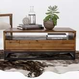 west elm Logan Industrial Storage Coffee Table - Natural