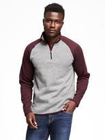 Old Navy 1/4-Zip Sweater-Knit Fleece Pullover for Men