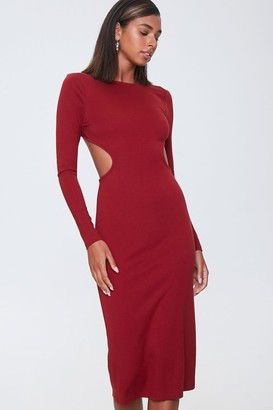 Forever 21 Open-Back Bodycon Midi Dress