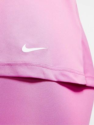 Nike Training Pro Elastika Tank Top - Flamingo