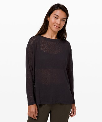 Lululemon Back In Action Long Sleeve *Veil