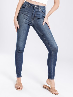 Articles of Society High Sarah Skinny Jeans in Kingston Blue Indigo Denim