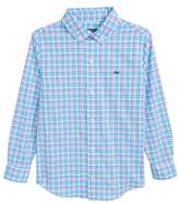 Vineyard Vines Sheltered Cove Plaid Whale Shirt