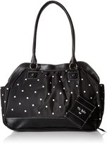 Baby Essentials Large Opening Satchel Diaper Bag, Black by