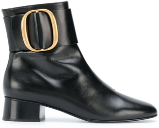 See by Chloe Buckled Leather Ankle Boots