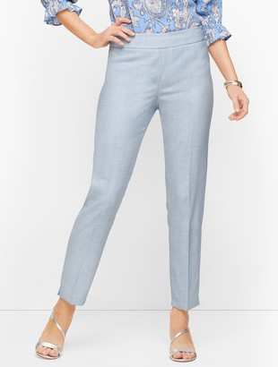 Talbots Lightweight Tweed Slim Ankle Pants
