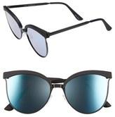 Quay Women's Star Dust 60Mm Cat Eye Sunglasses - Black/ Blue