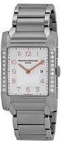 Baume & Mercier Women's BMMOA10023 Hampton Analog Display Quartz Silver Watch