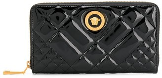 Versace quilted patent leather wallet