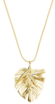 Noir Leaf & Bromeliad Pendant Necklace