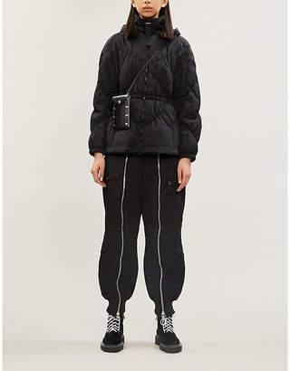 Emporio Armani Slim-fit detachable-hood shell coat