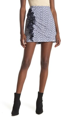 Derek Lam 10 Crosby Lanah Eyelet Embroidered Mini Skirt