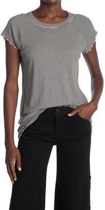 Nili Lotan Striped Lettuce Edge T-Shirt