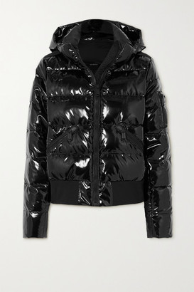 Goldbergh Aura Hooded Quilted Glossed Down Ski Jacket - Black