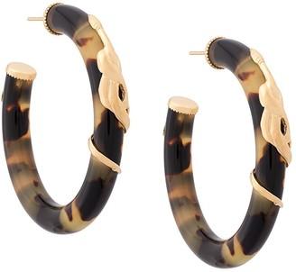 Gas Bijoux Cobra hoop earrings