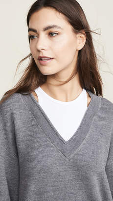 Alexander Wang Bi-Layer V Neck Sweater