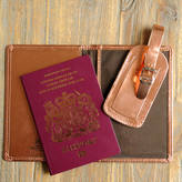 Undercover Metallic Leather Passport Cover And Luggage Label